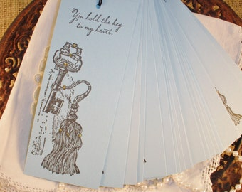 Wedding Wish Tree Tags Skeleton Key Tassel Key to My Heart Wishing Tree Cards Set of 25