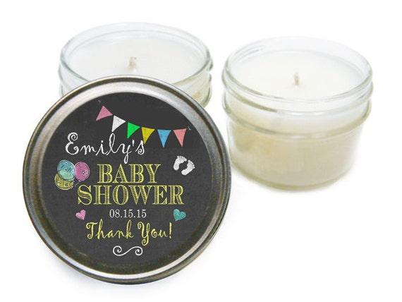 baby shower favor 4oz mason jar candle baby girl baby boy shower
