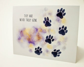 Pet sympathy never truly gone pet greeting card