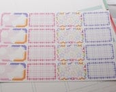 16 Half Boxes Pink and Purple Planner Stickers  PS164 Fits Erin Condren