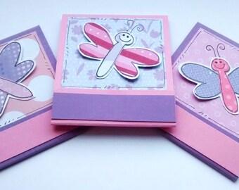 Matchbook Notepads - Dragonflies - Set of Three Mini Notebooks