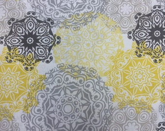 Clearance** Couture Mama Nursing Cover - Grey and Yellow Medallions