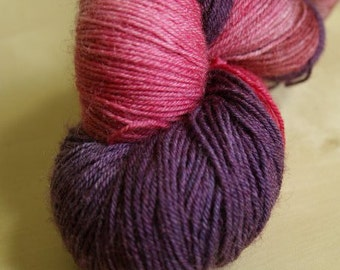 Berries Blue Faced Leicester Sock Weight Yarn