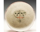 Two of Hearts - Ceramic Finger Bowl by Jenny Mendes