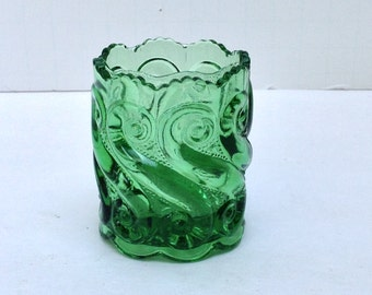 National Glass Company EAPG Green Toothpick Holder