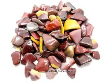 Lot # 20 BULK Mookaite Tumbled Stones, Metaphysical, Pocket Stone, Wire Wrapping, Artisan, Feng Shui