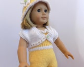 Knit Doll Outfit, Knit Doll Clothes, AG Doll Outfit, Fits American Girl Doll