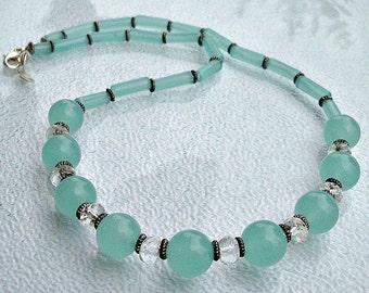 Necklace Aqua Chalcedony