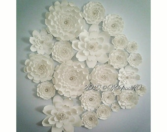 Weddings Large Paper Flowers in the colors of your choice