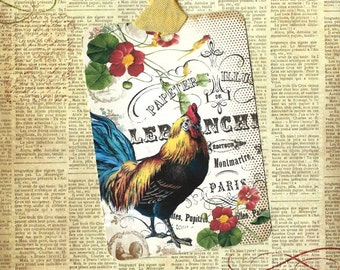 Tags, Farm House, Rooster Tags, Farm House Rooster, Gift Tags