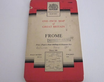 1959 Vintage Ordnance Survey Map of Frome