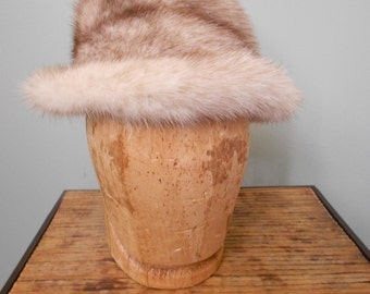 Cross Mink Fur Hat / 1960s  Sale