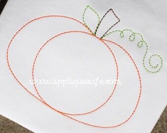 866 Pumpkin Machine Embroidery Applique Design