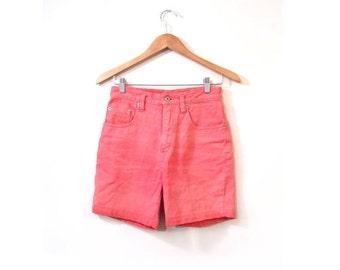 BTS SALE Vintage 80s PEACH High Waist Denim Shorts xs s
