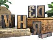 YOU PICK - 3 Inch Wooden Letterpress - Printers Type