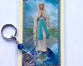Our Lady of the Highway Keychain and Prayer Card
