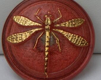 Larger Dragonfly Czech Glass Button