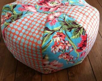 Bliss Bouquet - Gumdrop Tuffet floor pillow - Large