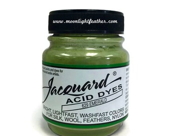 Feather, silk, wool, cashmere and Yarn Dyes - EMERALD Jacquard Acid Dyes - 1/2 Oz : 3735