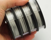 Bead Stringing Wire - Silver Plated 49 Strand - 2 Sizes Available - Free Crimps Sample - 100% Guarantee
