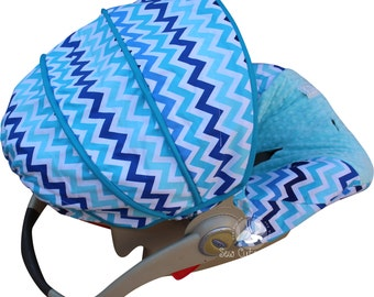 Baby Car Seat Cover Surf Chevron