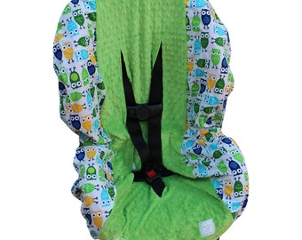 Toddler Car Seat Cover SHIPS TODAY Urban Owls Pool