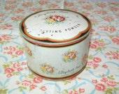 SALE - Elizabeth Post Powder Tin, 1940s, dusting powder tin, Art Deco, decor