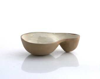 ceramic Dipping bowl handmade serving bowl modern pottery entertaining chip and dip bowl