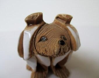 Dog Figure, Artesania Rinconada Dog, puppy Figurine, Made in Uruguay, art dog