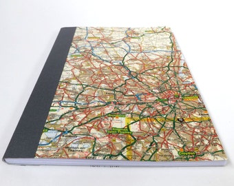 UK #11 - London - Recycled Road Map Notebook