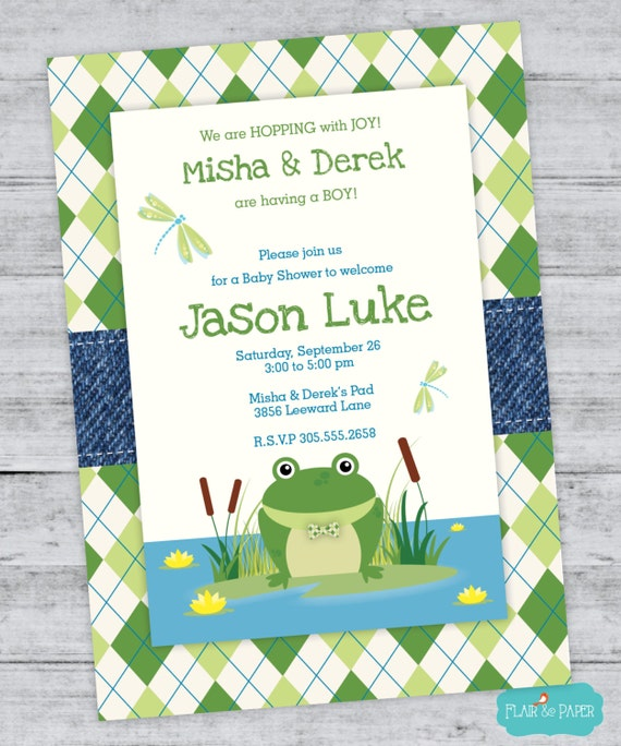 frog baby shower invitation baby shower princess and the frog