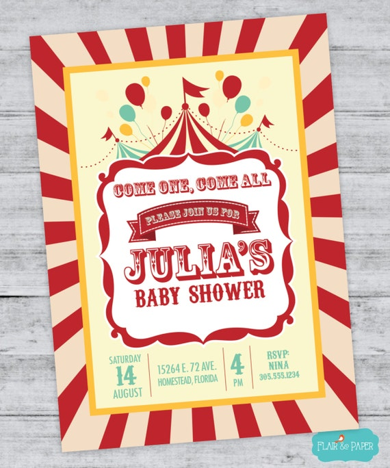 carnival party circus shower carnival shower big top baby shower