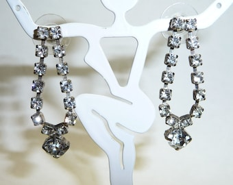 Stunning Rhinestone Diamond Dangle Earrings on Etsy by APURPLEPALM