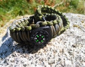Deluxe & Loaded PARACORD SURVIVAL Wrist BANDS set of 2