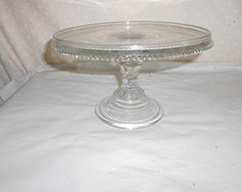 Clear Pedestal Cake Plate