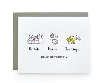 Things that Multiply - letterpress card