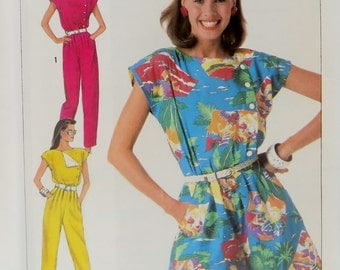 Sewing Pattern Misses Women Jumpsuit Uncut Vintage Pattern Simplicity 7433 Size 8