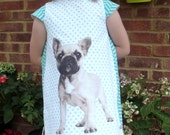 Fully Lined French Bull Dog Dress Ages 2-10