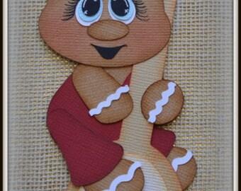 Gingerbread Spoon Christmas Premade Scrapbooking Embellishment Paper Piecing