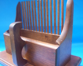 Retro Wooden Tabletop Napkin Letter Holder