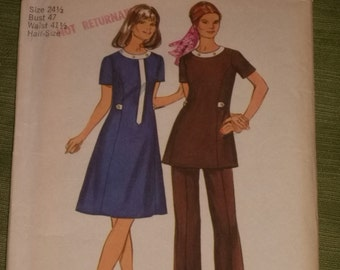 Dress or Tunic with Pants Size 24 1/2