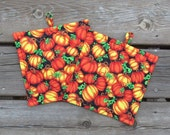 Pumpkin Pot Holders for Fall Autumn Set of Two