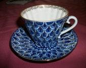 Vintage LOMONOSOV 2pc set Tea cup saucer  plate Forget-me not  Soviet  Vintage USSR on Sale