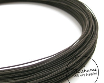 1.0mm (30 Gauge) Firm Cotton Covered Millinery Wire (For Hat Making, Flower Making) - Brown