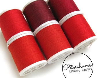Red Thread Collection - 6 Shades of Polyester Thread on 100 yard Spools