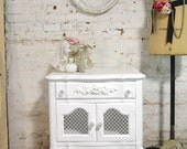 Painted Cottage Chic Shabby Romantic French Night Table NT808
