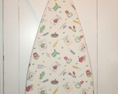 """Delightful Vintage Style Gardening Theme Ironing Board Cover - """"Fruit and Flower Garden"""" by Atsuko Matsuyama for Yuwa Fabric"""
