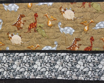 Dinosaur Quilt Kit-All Fabric/Pre-Cuts-Fun Quilt for any Dinosaur Fan! PLUS a Dinosaur Pillow!