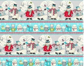 Wilmington Prints Debbie Mumm All Bundled Up Repeating Multi Stripe Christmas Fabric by the Yard 67535-943