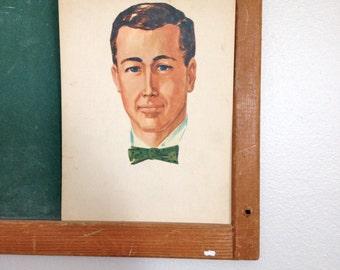 Vintage School Flashcard- Man